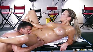 Oiled Friary Brooks is drilled by Toni Ribas