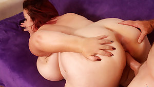 Fat Mature Redhead Laddie Lynn Gets Her Plump Pussy Railed to Perfection