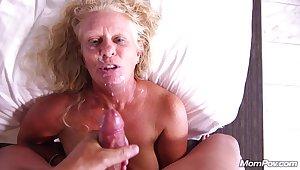 Having Fun With Sleety Granny - POV sex