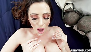 Milf with huge tits jizzed after fucked with reference to nasty modes