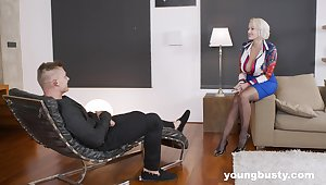 Angel Wicky is an experienced MILF who knows how to be at a dick
