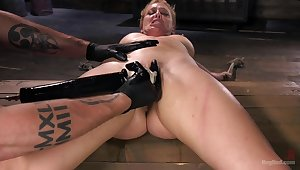 Pleasure increased by pain be worthwhile for submissive Cherie DeVille close to a Dom's dungeon