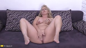 Elize Is A Plump, Blonde Housewife With Big Boobs, Who Likes To Masturbate To the fullest Alone Sisterly