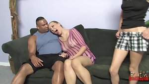 Annette Schwartz and Come unstuck Blackwell have sex with a black dude