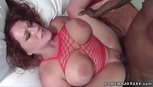 I like it big and black - BBW with big natural tits nailed by fleshly cock at hand amateur interracial