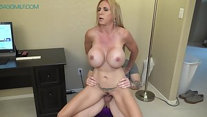 Creampied This Biggest Tits Boss